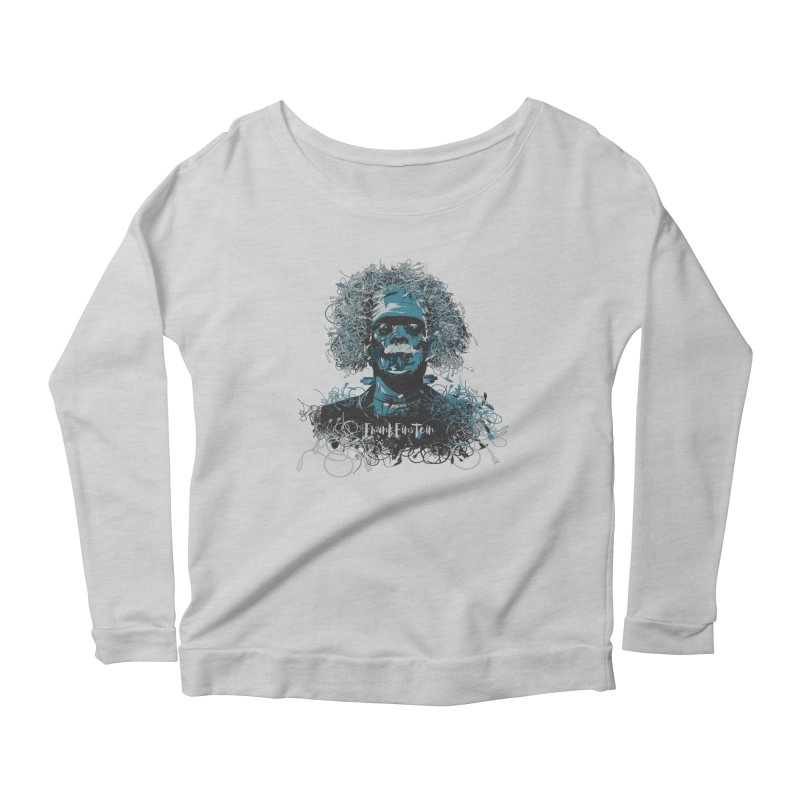 Frank Einstein Women's Longsleeve Scoopneck  by grafismo's Artist Shop