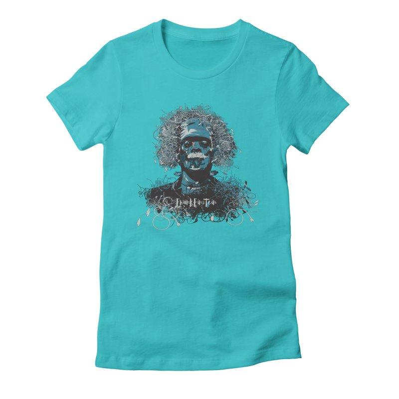 Frank Einstein Women's Fitted T-Shirt by grafismo's Artist Shop
