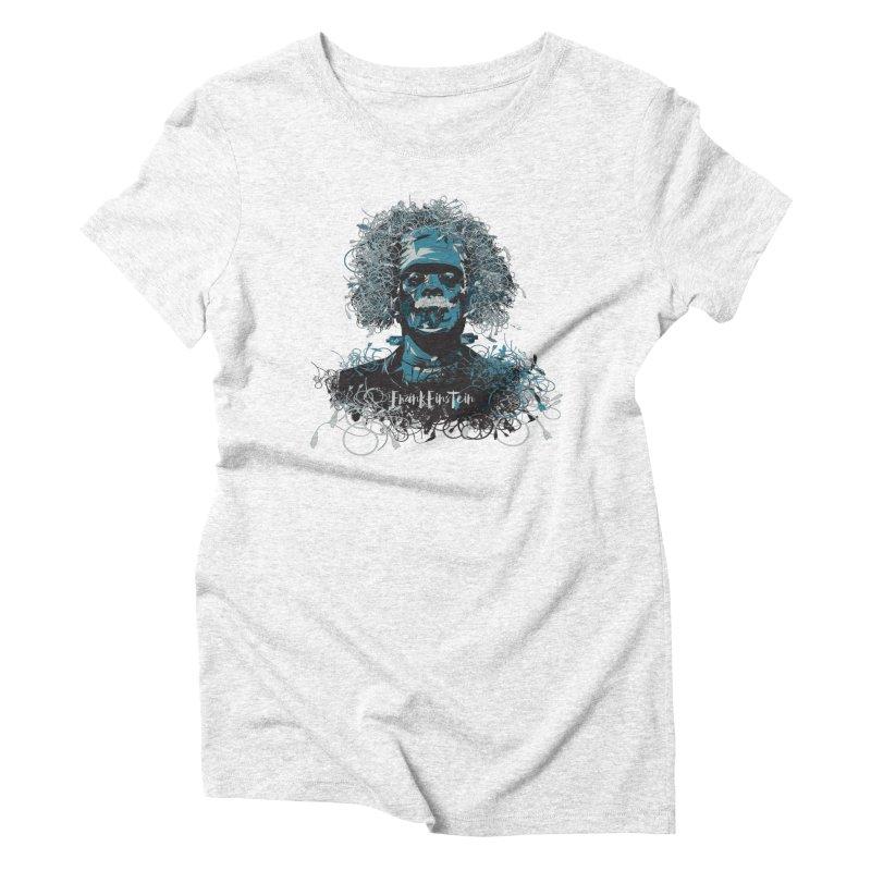 Frank Einstein Women's Triblend T-shirt by grafismo's Artist Shop