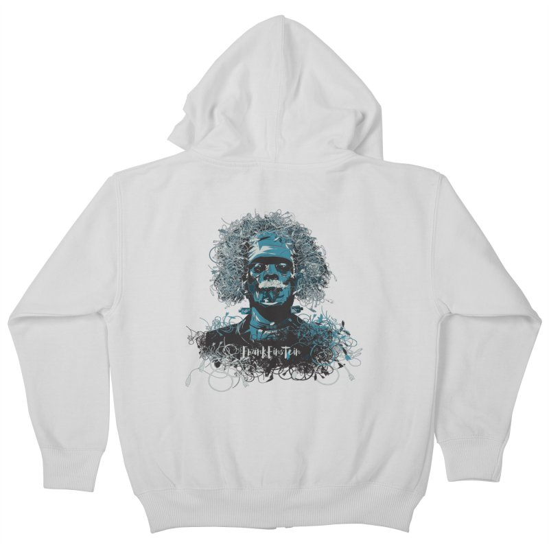 Frank Einstein Kids Zip-Up Hoody by grafismo's Artist Shop