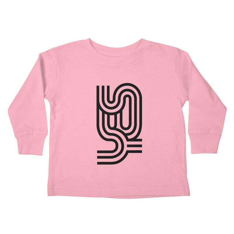 Yes Cool Typo | Black Design Kids Toddler Longsleeve T-Shirt by GRAFIXD'S SHOP