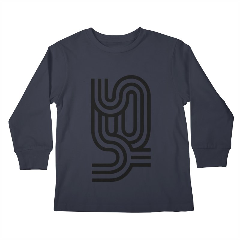 Yes Cool Typo | Black Design Kids Longsleeve T-Shirt by GRAFIXD'S SHOP