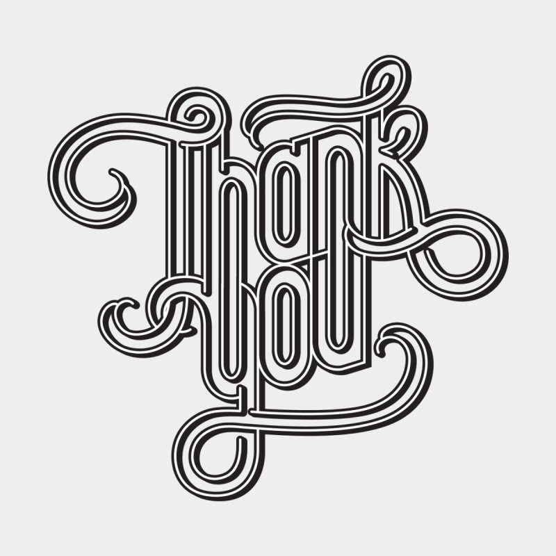 Thank You Lettering Design Women's Sweatshirt by GRAFIXD'S SHOP