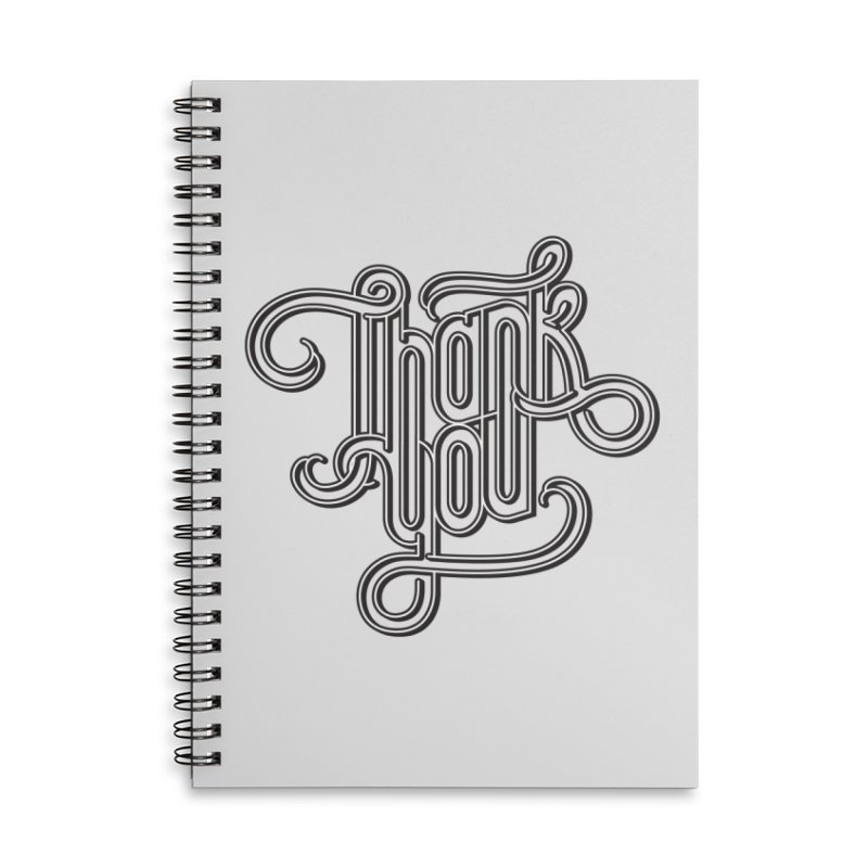 Thank You Lettering Design Accessories Notebook by GRAFIXD'S SHOP