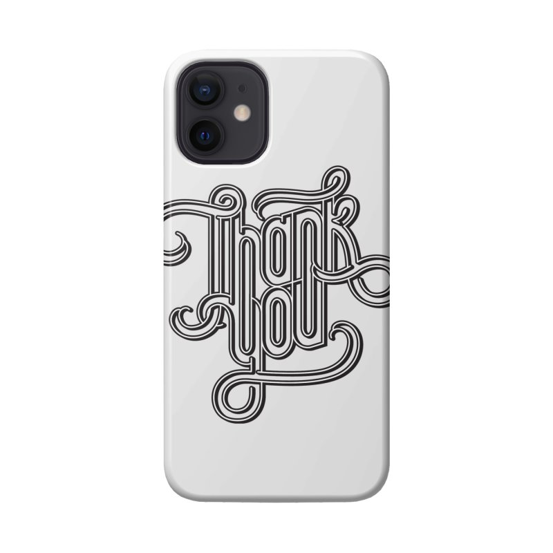 Thank You Lettering Design Accessories Phone Case by GRAFIXD'S SHOP