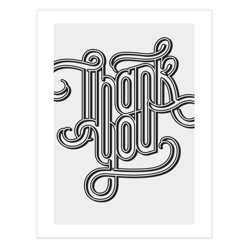 Thank You Lettering Design Home Fine Art Print by GRAFIXD'S SHOP