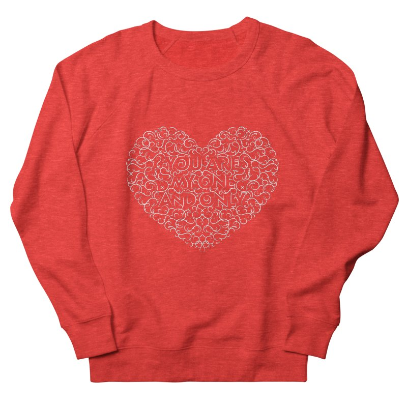 One and Only Valentine Typo | White Design Women's Sweatshirt by GRAFIXD'S SHOP