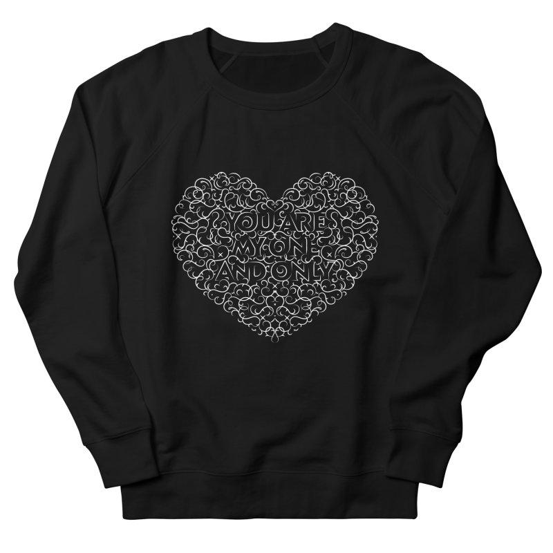 One and Only Valentine Typo |White Design Women's Sweatshirt by GRAFIXD'S SHOP