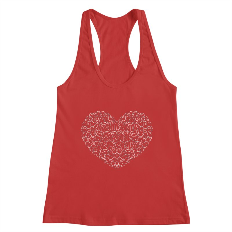 One and Only Valentine Typo | White Design Women's Tank by GRAFIXD'S SHOP