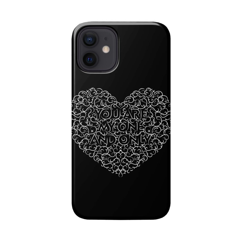 One and Only Valentine Typo |White Design Accessories Phone Case by GRAFIXD'S SHOP