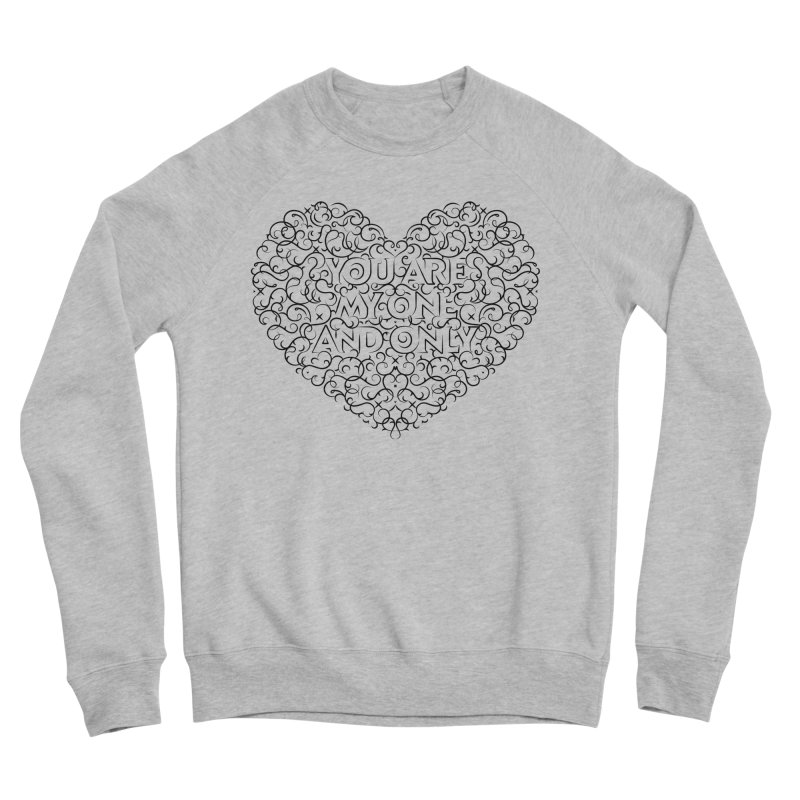 One and Only Valentine Typo | Black Design Women's Sweatshirt by GRAFIXD'S SHOP