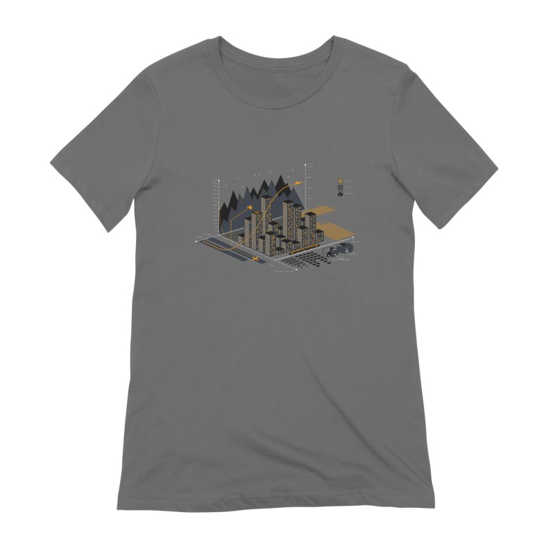 Stat City Women's Extra Soft T-Shirt by Graham Dobson