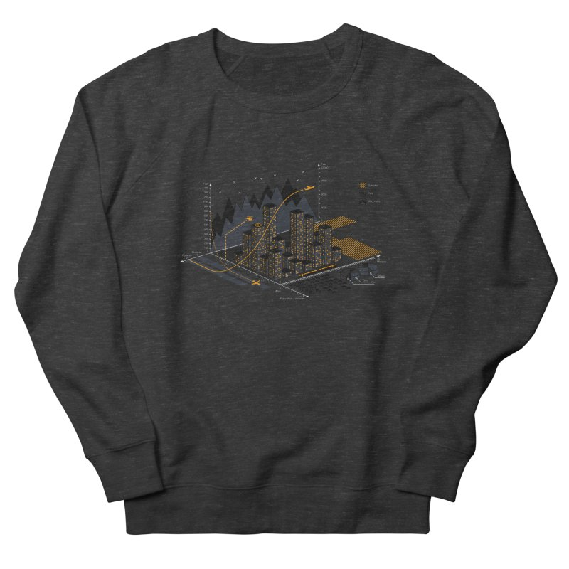 Stat City Men's French Terry Sweatshirt by Graham Dobson