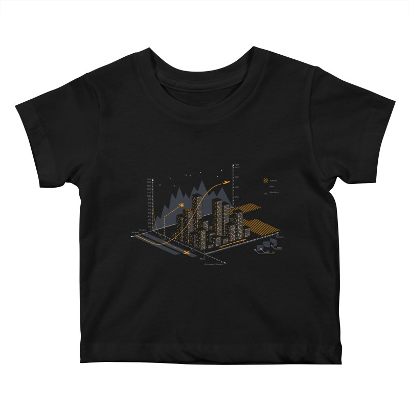 Stat City Kids Baby T-Shirt by Graham Dobson