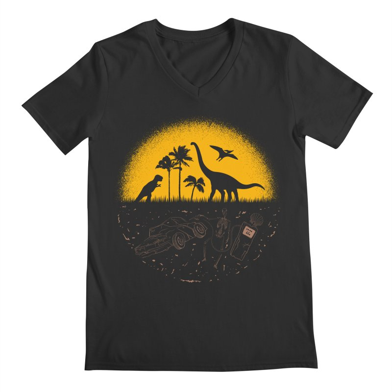 Fossil Fuel Men's Regular V-Neck by Graham Dobson