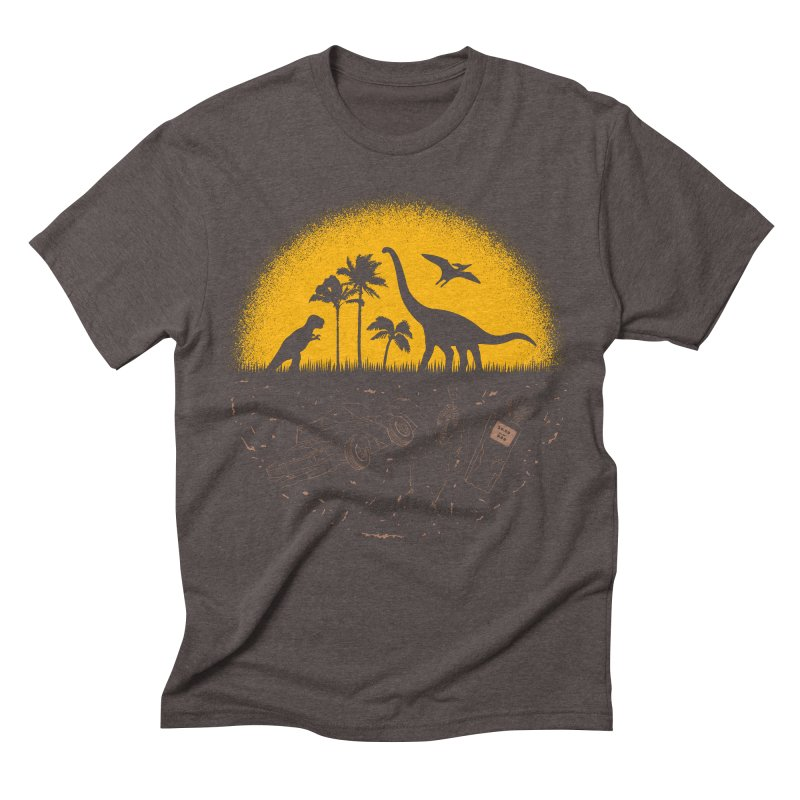 Fossil Fuel Men's Triblend T-shirt by Graham Dobson