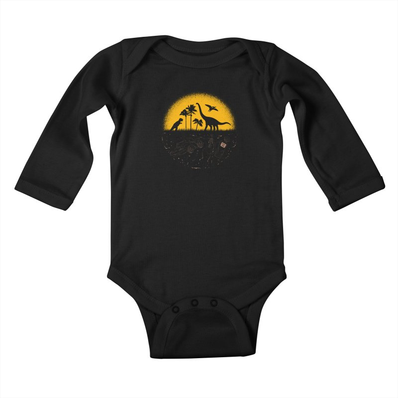 Fossil Fuel Kids Baby Longsleeve Bodysuit by Graham Dobson