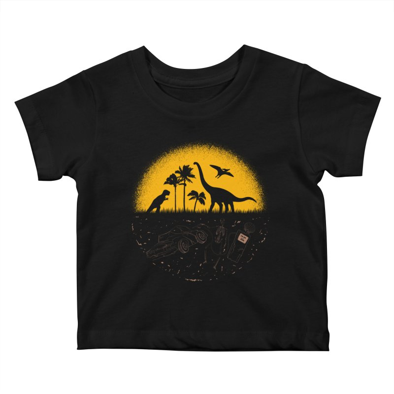 Fossil Fuel Kids Baby T-Shirt by Graham Dobson