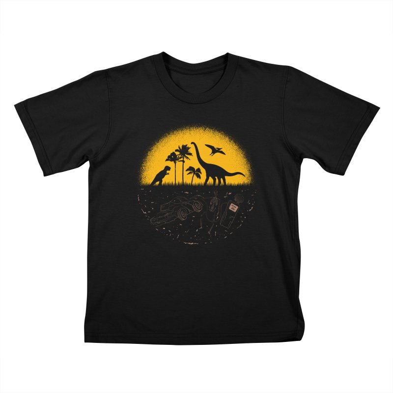 Fossil Fuel Kids T-Shirt by Graham Dobson