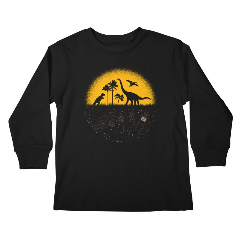 Fossil Fuel Kids Longsleeve T-Shirt by Graham Dobson