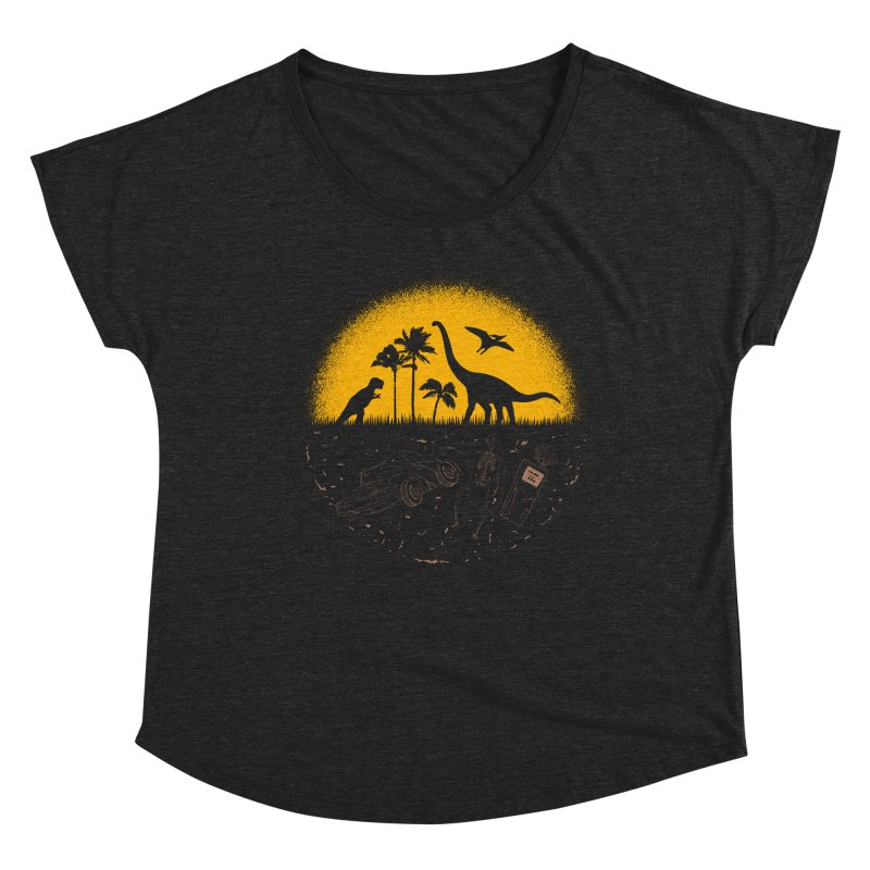 Fossil Fuel Women's Scoop Neck by Graham Dobson