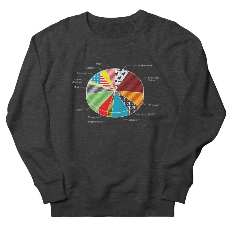 Pie Chart Men's French Terry Sweatshirt by Graham Dobson