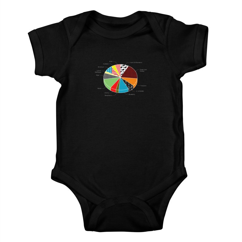Pie Chart Kids Baby Bodysuit by Graham Dobson