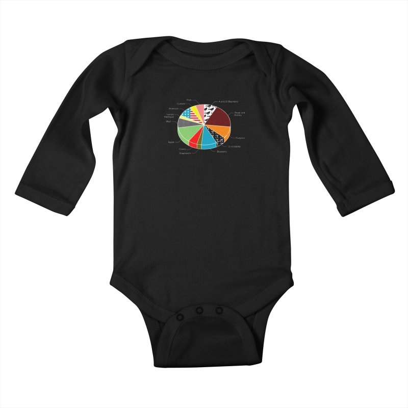 Pie Chart Kids Baby Longsleeve Bodysuit by Graham Dobson