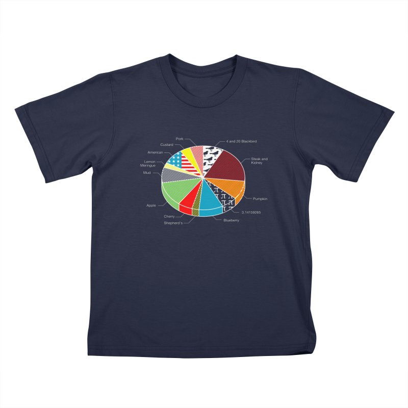 Pie Chart Kids T-Shirt by Graham Dobson