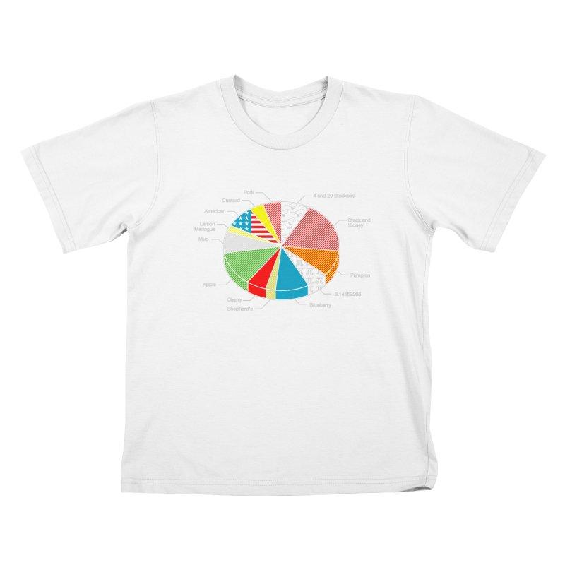 Pie Chart Kids T-Shirt by Graham Dobson