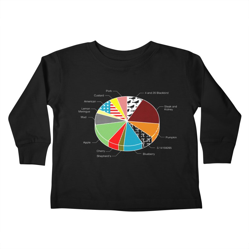 Pie Chart Kids Toddler Longsleeve T-Shirt by Graham Dobson