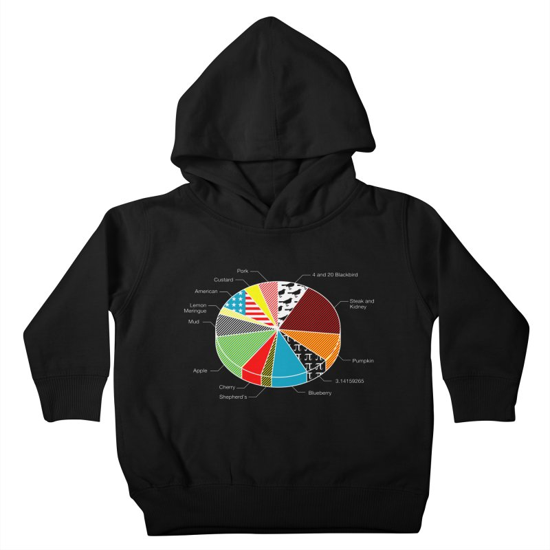 Pie Chart Kids Toddler Pullover Hoody by Graham Dobson