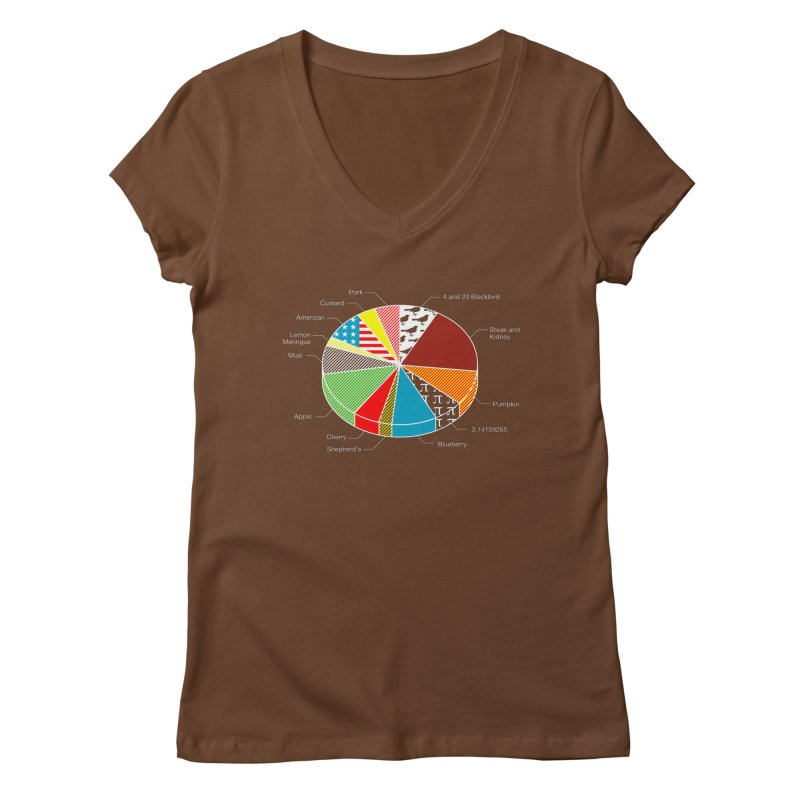 Pie Chart Women's V-Neck by Graham Dobson