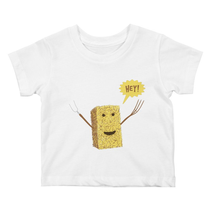 Hey! Kids Baby T-Shirt by Graham Dobson