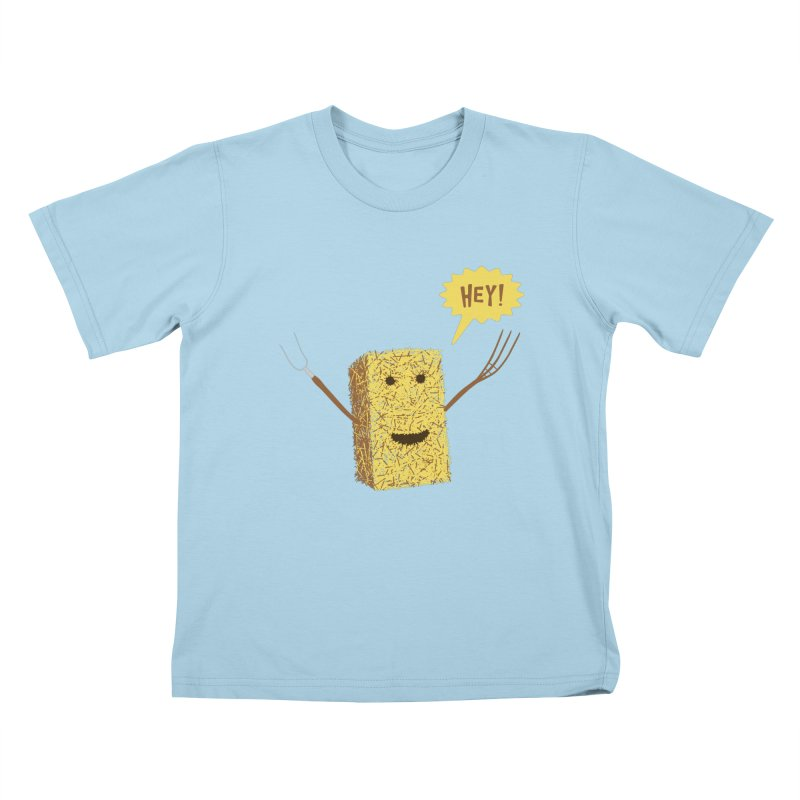 Hey! Kids T-Shirt by Graham Dobson