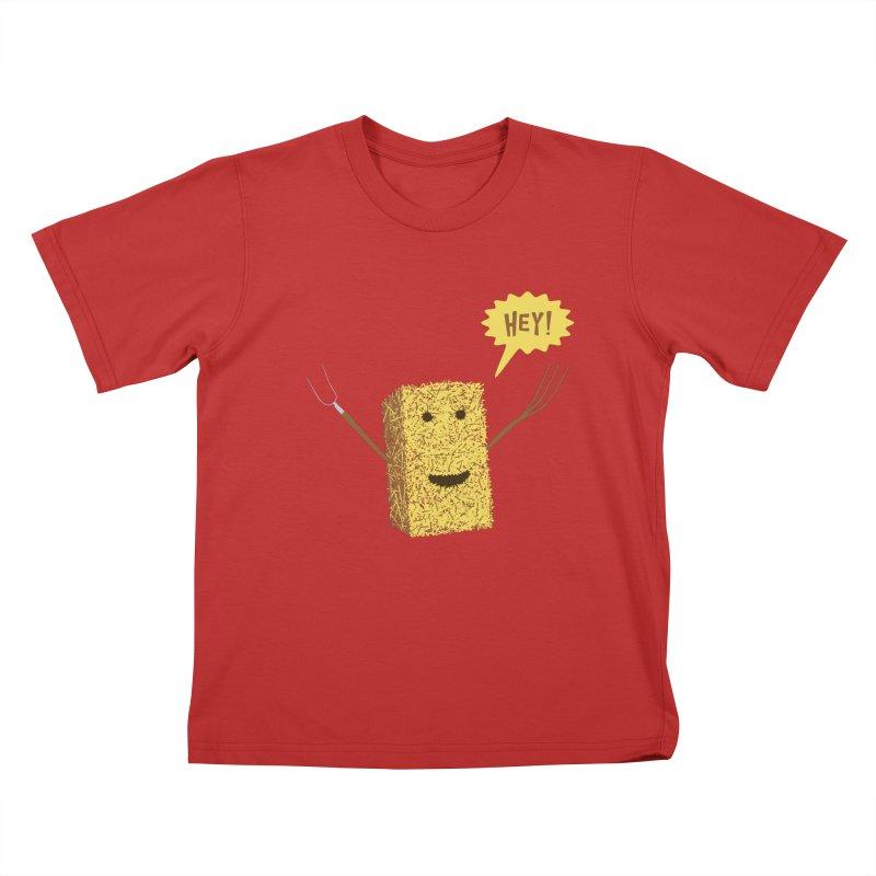 Hey! Kids T-Shirt by Graham Dobson