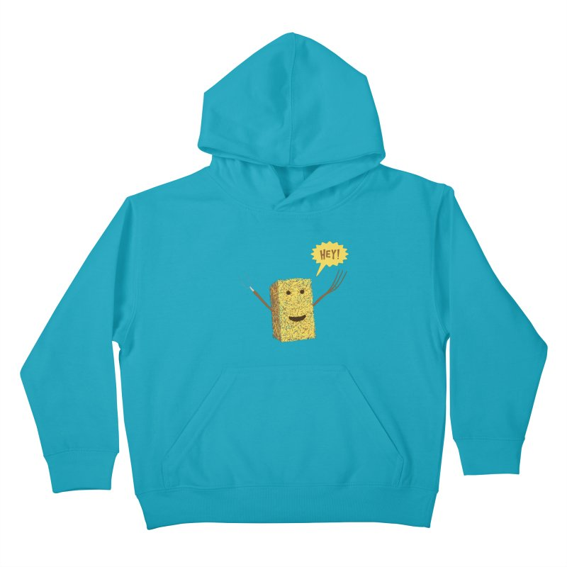 Hey! Kids Pullover Hoody by Graham Dobson
