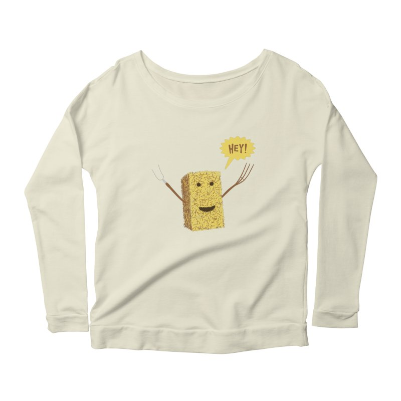 Hey! Women's Longsleeve Scoopneck  by Graham Dobson