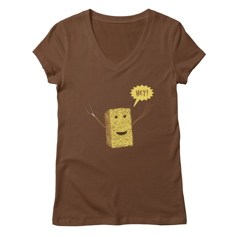 Hey! Women's V-Neck by Graham Dobson