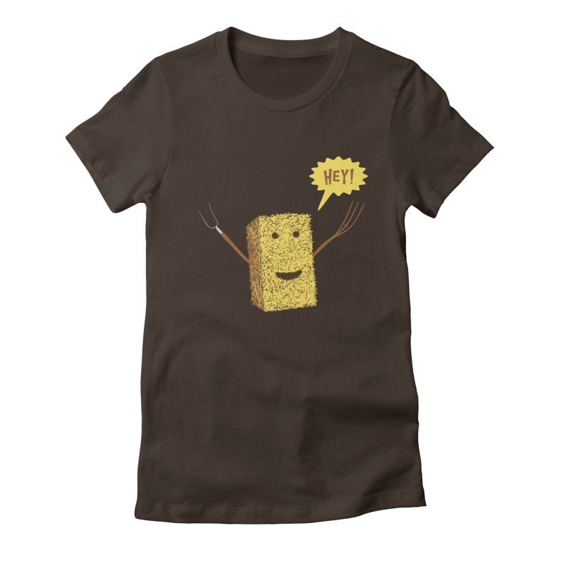Hey! Women's Fitted T-Shirt by Graham Dobson