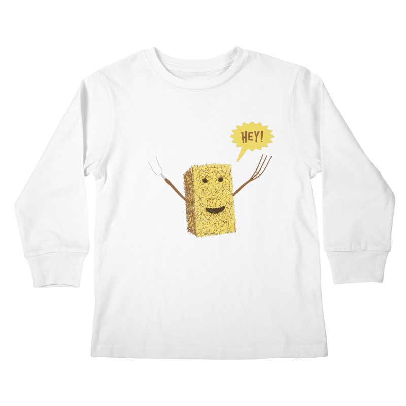 Hey! Kids Longsleeve T-Shirt by Graham Dobson