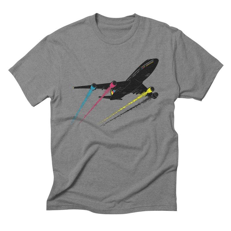 Ink Jet Men's Triblend T-Shirt by Graham Dobson