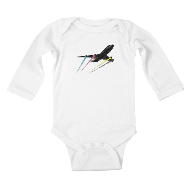Ink Jet Kids Baby Longsleeve Bodysuit by Graham Dobson