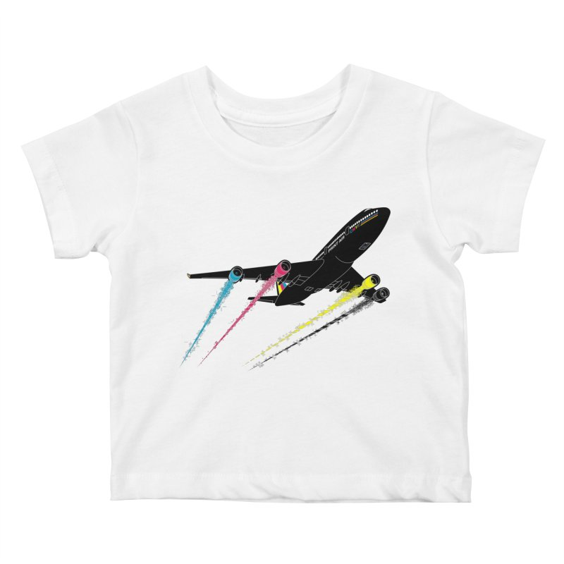 Ink Jet Kids Baby T-Shirt by Graham Dobson