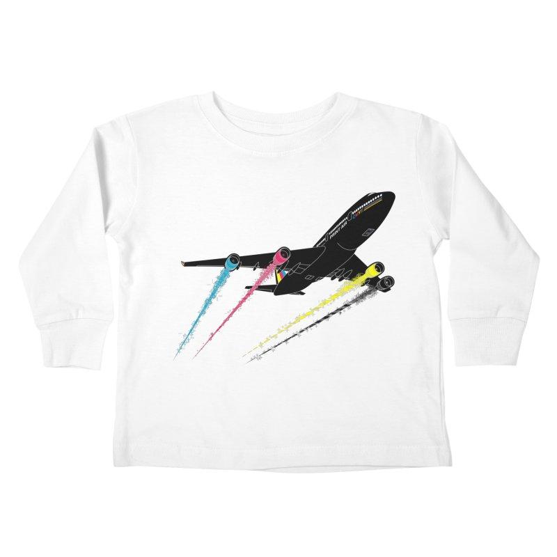 Ink Jet Kids Toddler Longsleeve T-Shirt by Graham Dobson