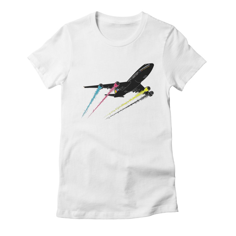 Ink Jet Women's T-Shirt by Graham Dobson