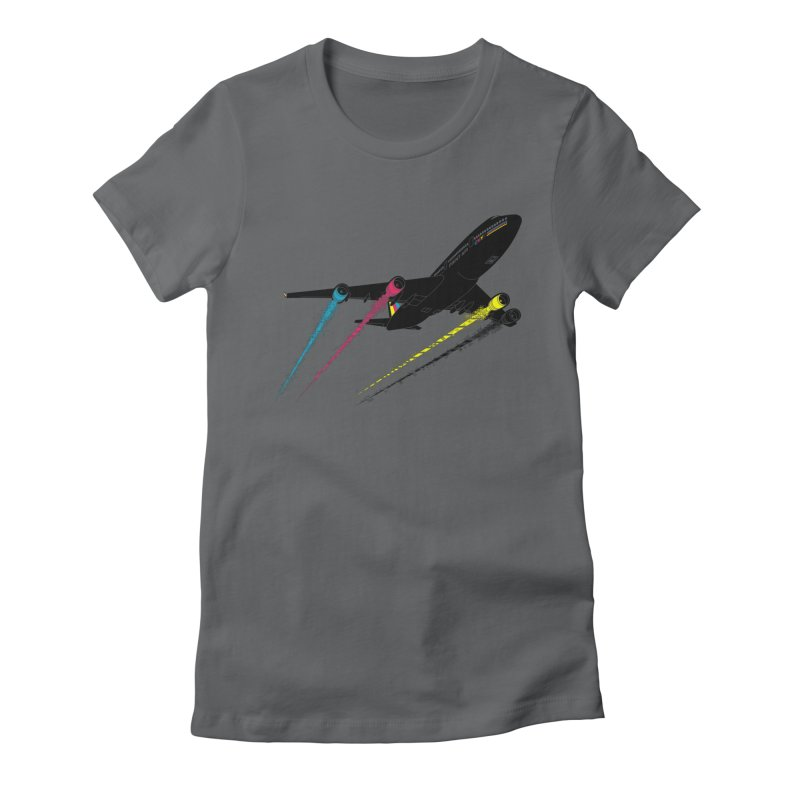 Ink Jet Women's Fitted T-Shirt by Graham Dobson