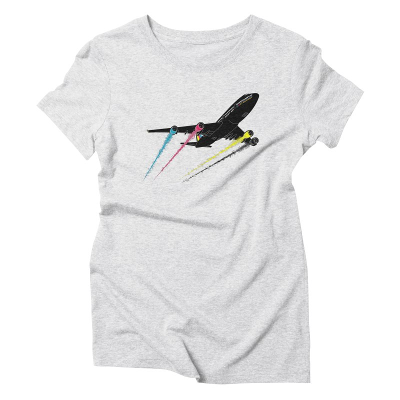 Ink Jet Women's Triblend T-Shirt by Graham Dobson