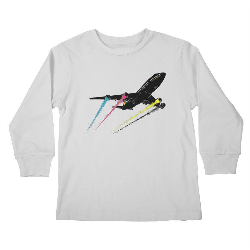 Ink Jet Kids Longsleeve T-Shirt by Graham Dobson
