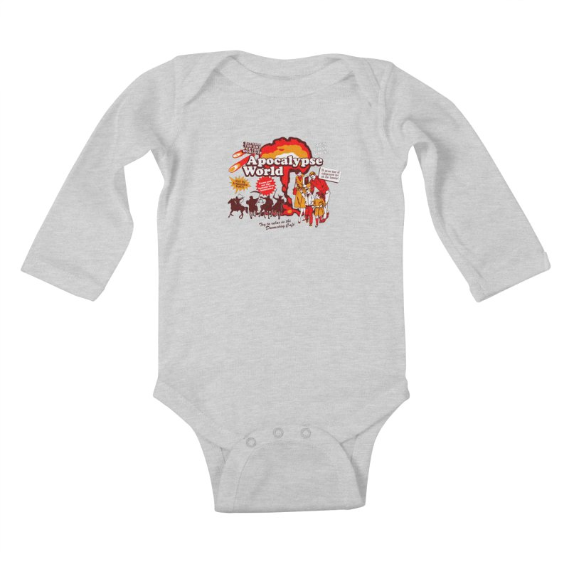 Apocalypse World Kids Baby Longsleeve Bodysuit by Graham Dobson